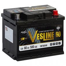 Аккумулятор VESLINE  60Ah о.п. 500A 242*175*190