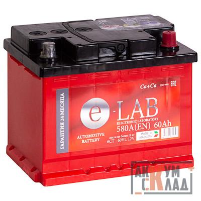 Аккумулятор E-LAB  60Ah о.п. 580EN 242*175*190 L2