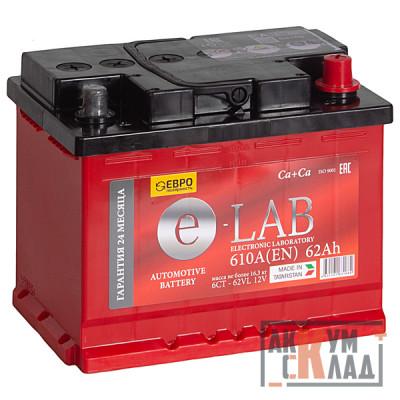 Аккумулятор E-LAB  62Ah о.п. 610EN 242*175*190 L2