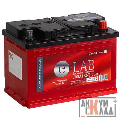 Аккумулятор E-LAB  75Ah о.п. 710EN 278*175*190 L3