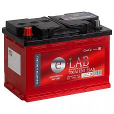 Аккумулятор E-LAB  75Ah п.п. 700EN 278*175*190 L3