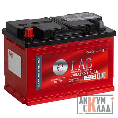 Аккумулятор E-LAB  75Ah п.п. 710EN 278*175*190 L3