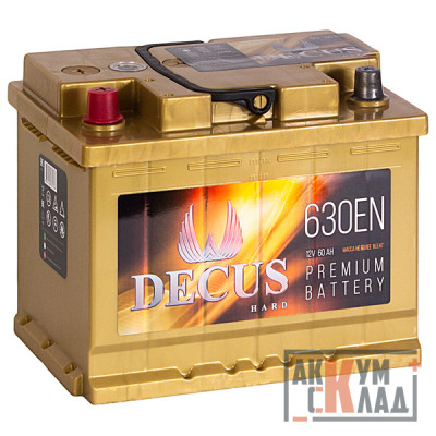 Аккумулятор DECUS  60Ah п.п. 630EN 242*175*190 L2